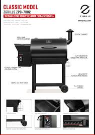z grill 684 smoker pellet wood sq in bbq grill with digital