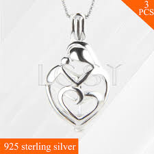s day locket and kid 925 sterling silver cage heart locket necklace