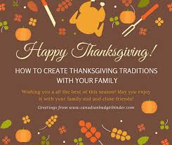 how to create thanksgiving traditions with your family the