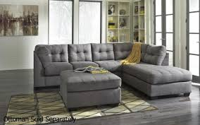 Leather Tufted Sectional Sofa Gray Leather Sectional Sofa With Chaise Centerfieldbar Com