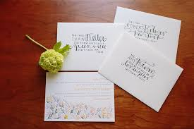 wedding invitation e card how to address a letter to married with different last