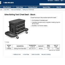uline rolling tool cabinet find more uline h 6065bl rolling tool cabinet new in box for sale at