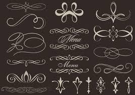 calligraphic ornament vectors free vector stock