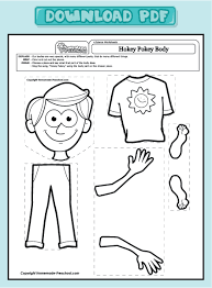 parts of the body worksheet clipart 22