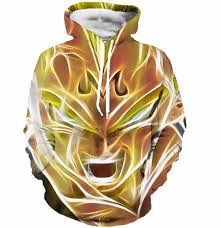 dragon ball super saiyan majin vegeta 3d cool hooded