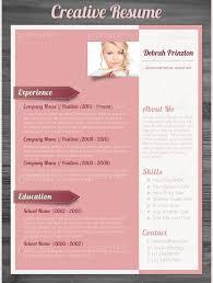 free creative resume template word free premium resume template