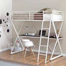 Loft Bunk Beds Duro Z Bunk Bed Loft With Desk White Kitchen Dining