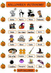 english teaching worksheets halloween pictionary