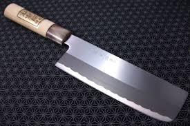 carbon kitchen knives japanese nakiri kitchen knife teruhide wooden handle carbon steel
