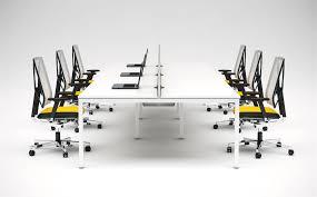 Bench Desking Modern Office Furniture Versa Bench Desk System White Arrow Opus