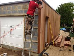 image result for two storey garage brick and timber clad garage why not build a garage go the extra mile and build something that makes a statement and you can maximise its use for a work room or anything else