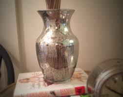 4x4 Glass Vase Mercury Glass Vase Etsy