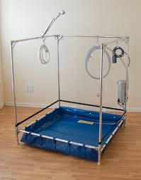Portable Bathtub For Shower Stall Fawssit Handicapped Shower Stall For Reclining Wheelchairs