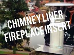 duravent chimney liner installation for fireplace insert in brick