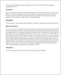 resume for high students with volunteer experience red cross volunteer resume template best design tips