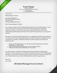 product manager and project manager cover letter samples resume