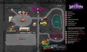 Map Dayton Ohio by Haunted House 3d Tour U0026 Park Map Land Of Illusion Scream Park