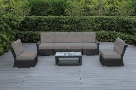patio sectional sofa ohana outdoor luxury patio wicker furniture sectional sofa 7 pc