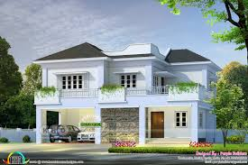 2300 square foot house plans 2300 square feet 4 bedroom villa plan kerala home design