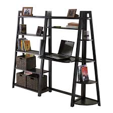 Wooden Ladder Bookshelf Plans by Wooden Ladder Shelf Unit Brown Wooden Ladder Shelf With Wooden
