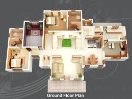 four bedroom house plan simple 4 bedroom house plans simple house plan with 4 bedrooms