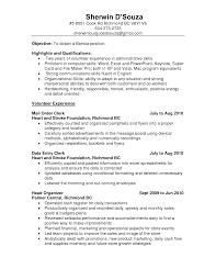 ideas of medical records clerk resume sample about hospital clerk