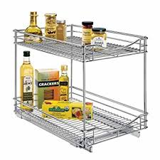 Under Cabinet Shelving by Amazon Com Lynk Professional Roll Out Double Shelves Pull Out
