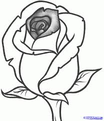 rose sketch step by step how to draw an open rose easy step by