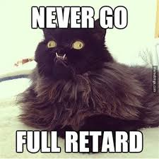 You Never Go Full Retard Meme - never go full retard cat memes and comics