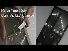 make your own light up sign make your own light up led canvas youtube