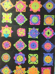 neon snowflakes u2013 mrs yang u0027s art room