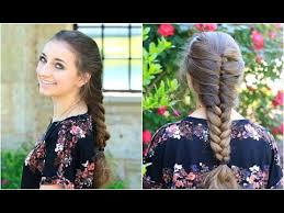 faux french braid cute girls hairstyles youtube