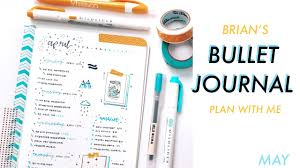 may plan with me bullet journal youtube
