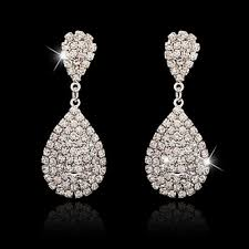 bridal drop earrings rhinestone bridal drop earrings rings emporium limited