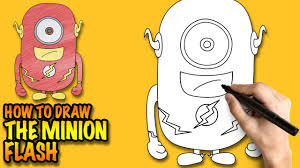 how to draw the minion flash easy step by step drawing lessons