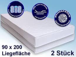 Schlafzimmer Komplett Mit Lattenrost Und Matratze Polsterbett Doppelbett 180x200 Cm Weiß Hellgrau Kunstleder