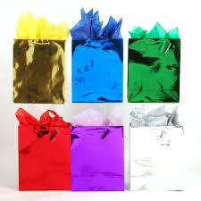 metallic gift bags medium shiny bright metallic gift bags