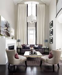 Livingroom Drapes Curtains High Ceiling Curtains Decorating High Living Room Hang
