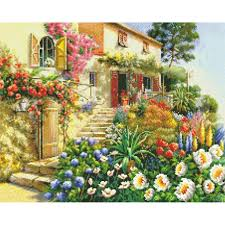 2017 diy diamond painting dream garden house diamond decorative