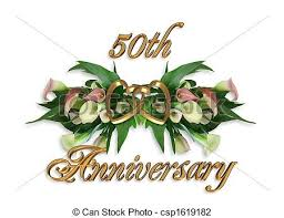 50th wedding anniversary 50th wedding anniversary illustrations and clip 319 50th