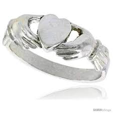 claddagh ring meaning sterling silver fenian claddagh ring without crown 1 4 in wide