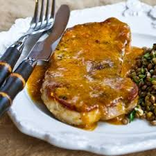 sports cars secure pan fried and roasted pork chops with apricot