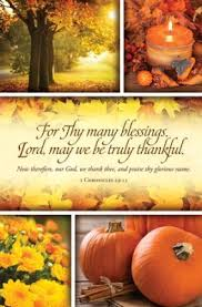 thanksgiving bulletins for thy many blessings church worship