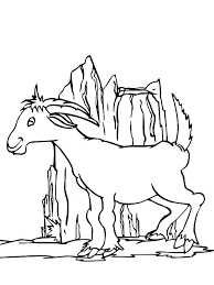 mountain lion coloring pages mountain goat playing hill