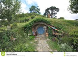 hobbit house stock photos images pictures hobbit house with blue door stock photography