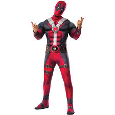 Halloween Gift Baskets For Adults by Deadpool Movie Deluxe Men U0027s Halloween Costume Walmart Com