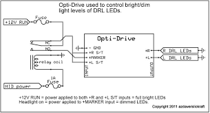 how to controll the brightness of led drl like hella ledayline
