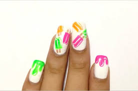 diy easy neon popsicle nail design for a playful summer
