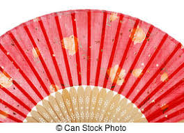 asian fan fan detail up view of a fan stock