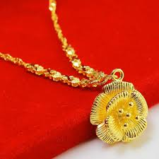 golden necklace new design images Wholesale the original design of the new 999 thousand gold gold jpg